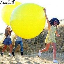 1 pc 36 Zoll Riesen Klar Ballon Latex Luftballons Geburtstag Hochzeit Dekoration Aufblasbare Helium Ballons Geburtstag Party Ballon