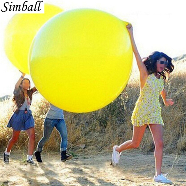 1pc 36 Inch 90cm Big Clear Balloon Latex Balloons Wedding Decoration Inflatable Helium Air Balls Happy Birthday Party Balloons