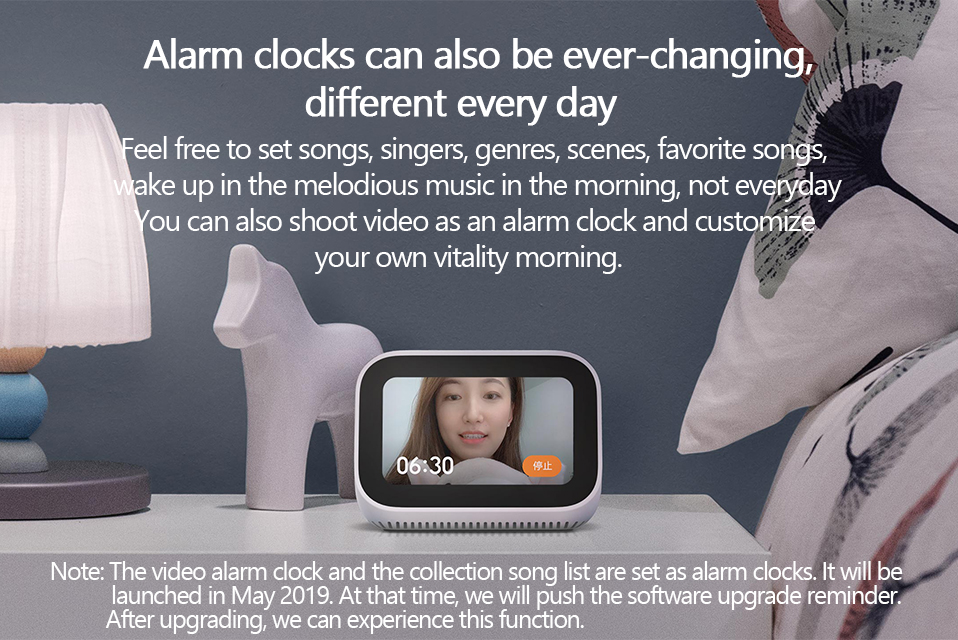 Original Xiaomi AI Touch Screen Bluetooth 5.0 Speaker Digital Display Alarm Clock WiFi Smart Connection Speaker Mi speaker (5)