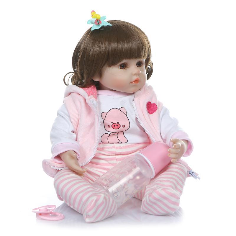 48 cm réaliste Reborn bébés doux Silicone bébé poupées lol reborn bambin réaliste nouveau-né bébé poupée pour enfant cadeau de noël - 2
