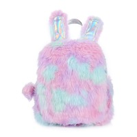 Cute Rabbit Shaped Cartoon Backpacks For Women Teenages Girls Colorful Plush Leather Bagpack Travel Shoulder Bag