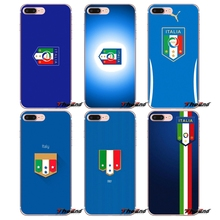 Italien de Football Équipe de Football Logo TPU Cas Pour iPhone X 4 4S 5 5S 5C SE 6 6 S 7 8 Plus Samsung Galaxy J1 J3 J5 J7 A3 A5 2016 2017(China)