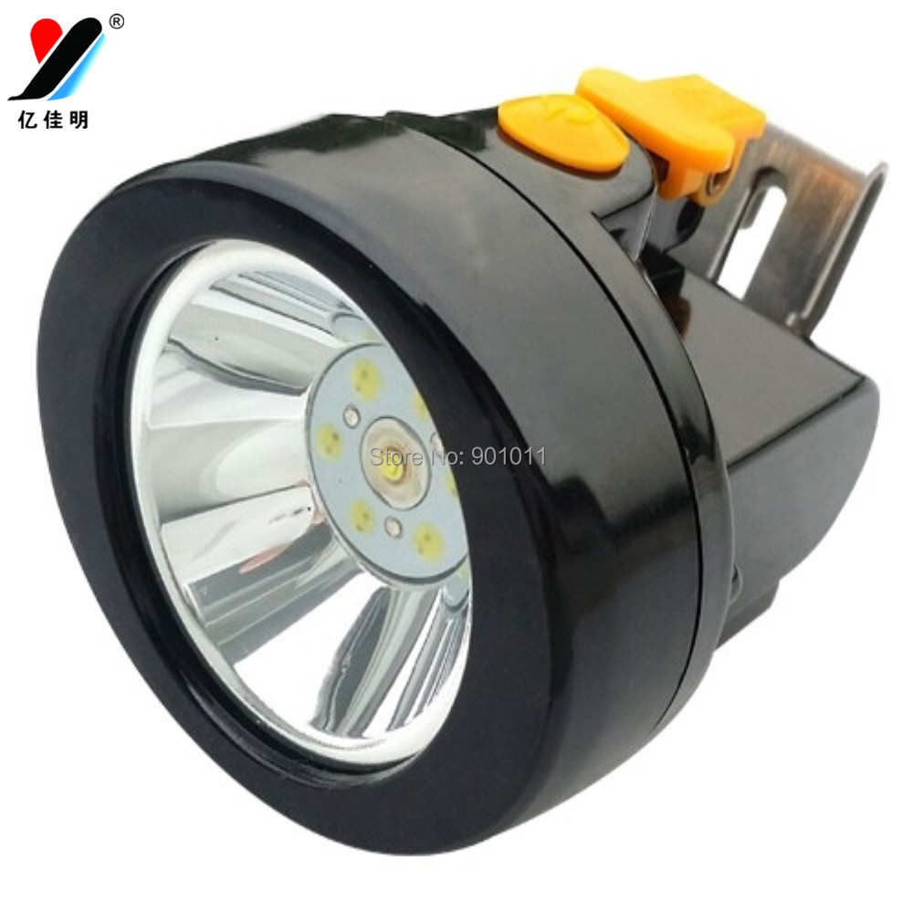 led miner cap lamp mining safety helmet head miner light Cordless miners headlamp rechargeable battery 18650 10pcs/lot KL2.5LM