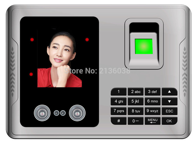 Touch Screen Biometric Fingerprint Face Recognition Time Attendance with  USB download EXCEL REPORT