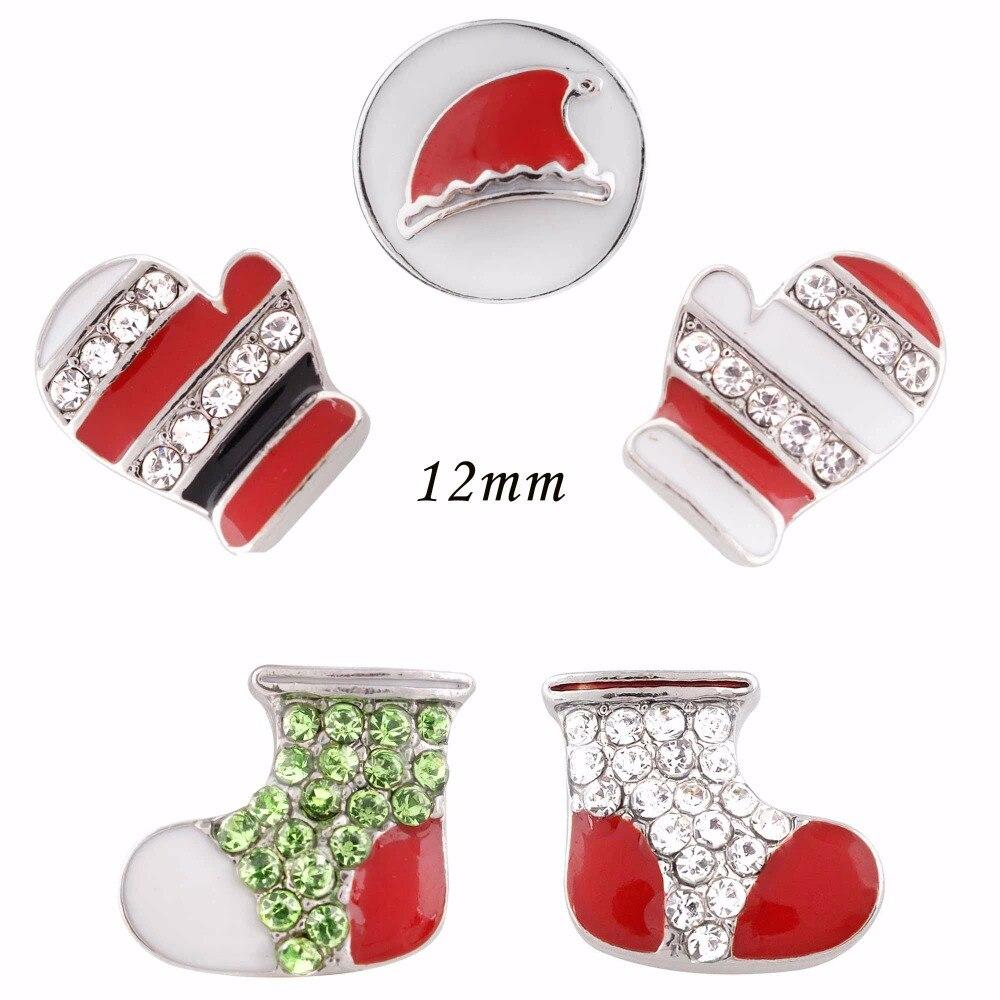 Partnerbeads Штаны для девочек с рождественским изображением Hat Кнопка Санта Клаус Носки для девочек Прихватки для мангала кнопки изделия Fit DIY бр...