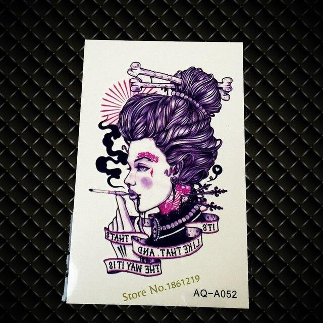 1 Pc Punk Hommes Femmes Bras De Tatouage Stickers Fumer Japonais