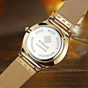 Image 3 - relogio masculino WWOOR  Gold Watch Men Ultra Thin Classic Male Wristwatch Business Golden Mens Watches Top Brand Luxury 2019