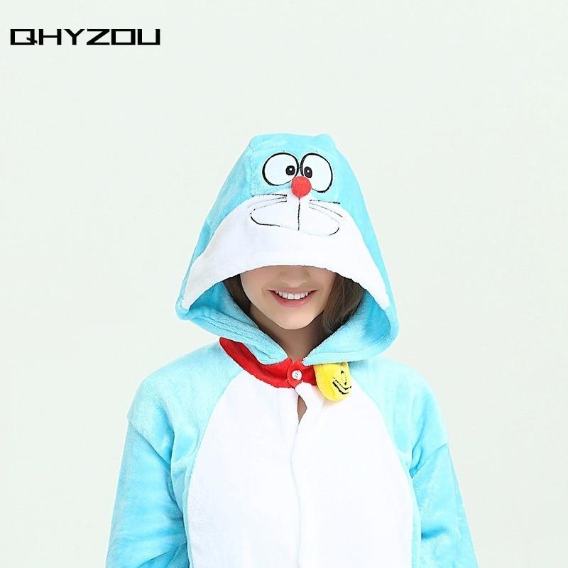 Doraemon Onesie Pyjamas Unisex Lovely Sleepwear Kigurumi Pajamas Sets Blue