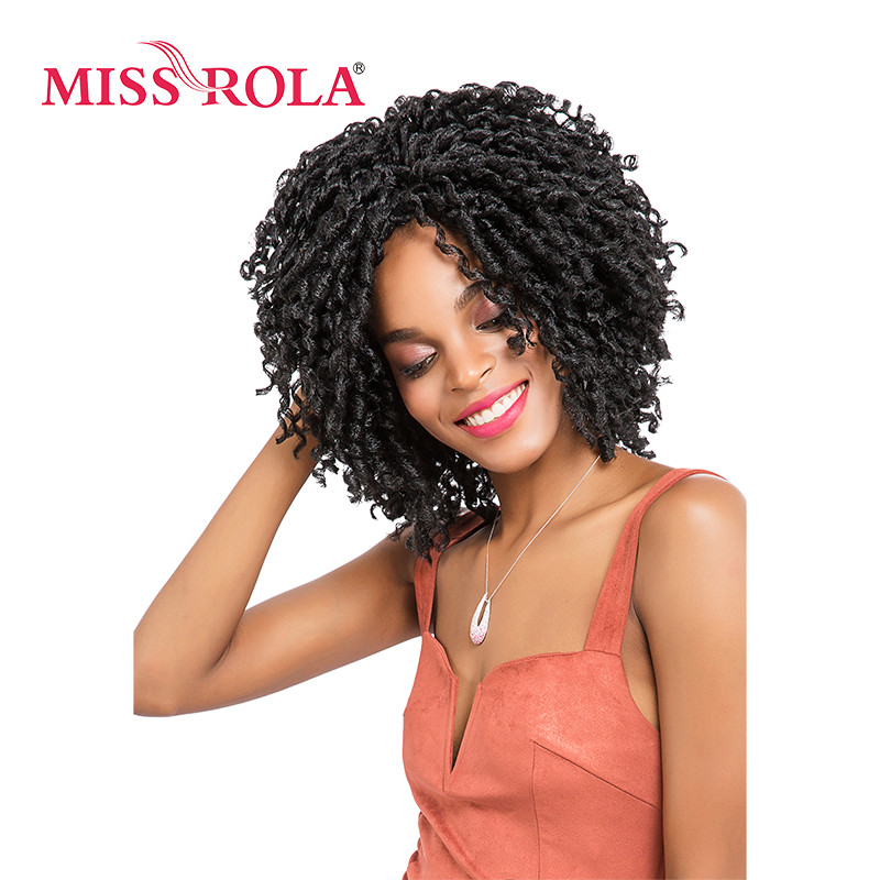 Miss Rola Synthetic Braiding Hair Extensions Dreadlocks 1B# Kanekalon Low Temperature Fiber 5pcs Crochet Braids Hair 3 Colors