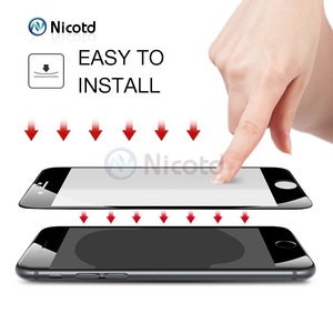 Image 5 - Закаленное стекло с полным покрытием для iPhone 7, 6, 6S Plus, 2.5D, защитная пленка для экрана iphone X, 8, 7 Plus, защитное стекло, черный, белый
