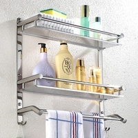 Bathroom Shelf Polished Liver Bathroom Towel Bar 304 Stainless Steel Towel Rack Corner Rack 2/3 Floor Bathroom Hardware Pendant