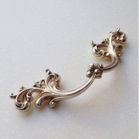 96mm Antique Furniture Handles Antique Silver Kichen Cabinet Drawer Pull Handle Distress Silver Dresser Cupboard Door