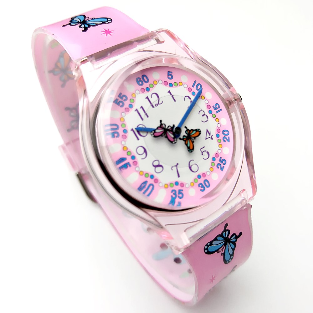 HTB1 L2DRXXXXXXZXVXXq6xXFXXXI - WILLIS Luxury Butterfly Lovely Pink Silicone Strap Ladies Student Watch-WILLIS Luxury Butterfly Lovely Pink Silicone Strap Ladies Student Watch