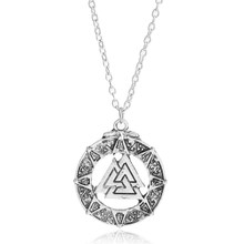 pagan amulet pendant Men necklace Scandinavian Viking jewelry Odin 's Symbol of Norse Viking Warrior Slavic Norway Valknut(China)