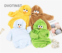 Dvotinst Newborn Baby Boy&Girl Cloth Coral fleece Full Sleeves Cartoon Bodysuit Outfits Infant Toddler Jumpsuit Clothing Costume