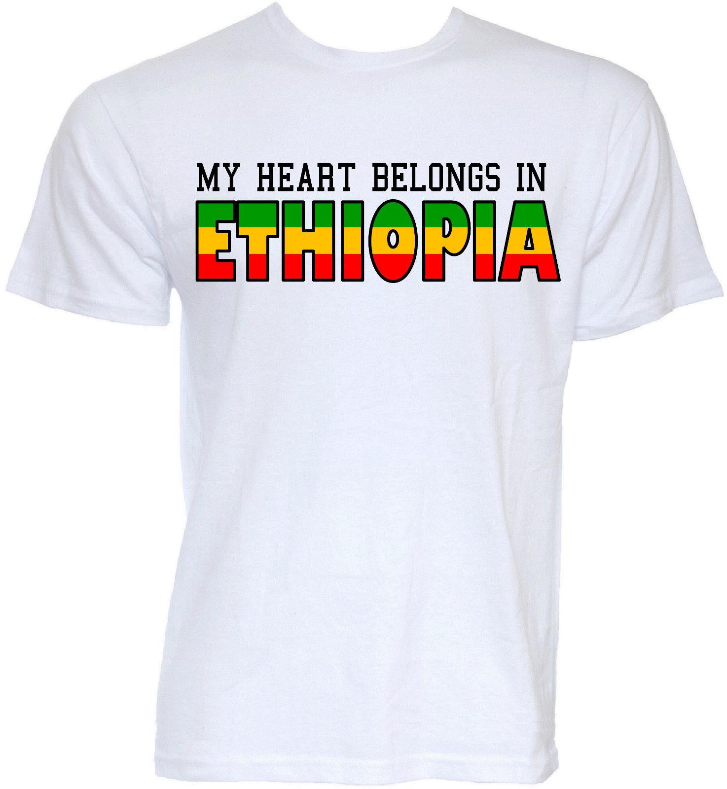 7c15df4d2e648 Мужские Смешные Новинка Эфиопский Эфиопии слоган футболки Шутка подарки  футболка новые 2017 мода странные вещи Футболка