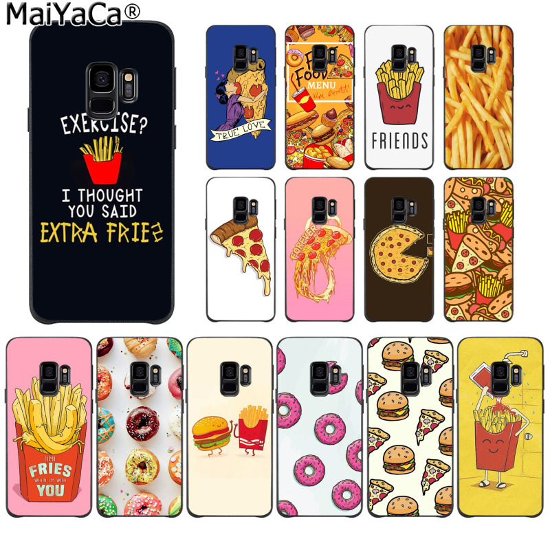 Obliging Maiyaca Pizza French Fries Doughnut Food Novelty Phone Case For Samsung S9 S9 Plus S5 S6 S6edge S6plus S7 S7edge S8 S8plus Nourishing The Kidneys Relieving Rheumatism Half-wrapped Case Phone Bags & Cases
