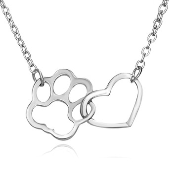 Dog Claw Heart Necklace 4