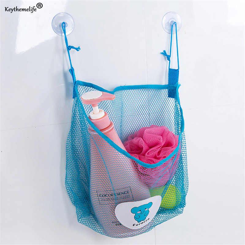 Cartoon ściany wiszące łazienka torby do przechowywania w kuchni dzianiny netto siatkowa torba zabawki do kąpieli dla dzieci szampon organizator pojemnik torba