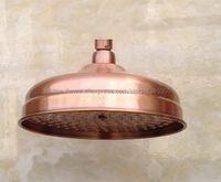 Antique Red Copper Round 8 Inches Rain Shower Head Water Saving Top Spray Rainfall Shower Heads Bsh054