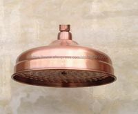 Antique Red Copper Round 8 Inches Rain Shower Head Water Saving Top Spray Rainfall Shower Heads Bsh054