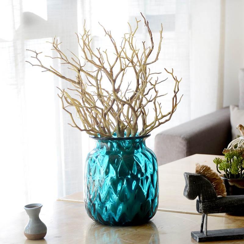 Пластиковые растения искусственные, свадебные украшения сушеное дерево домашний декор Павлин коралловые ветви J2Y - Цвет: 1