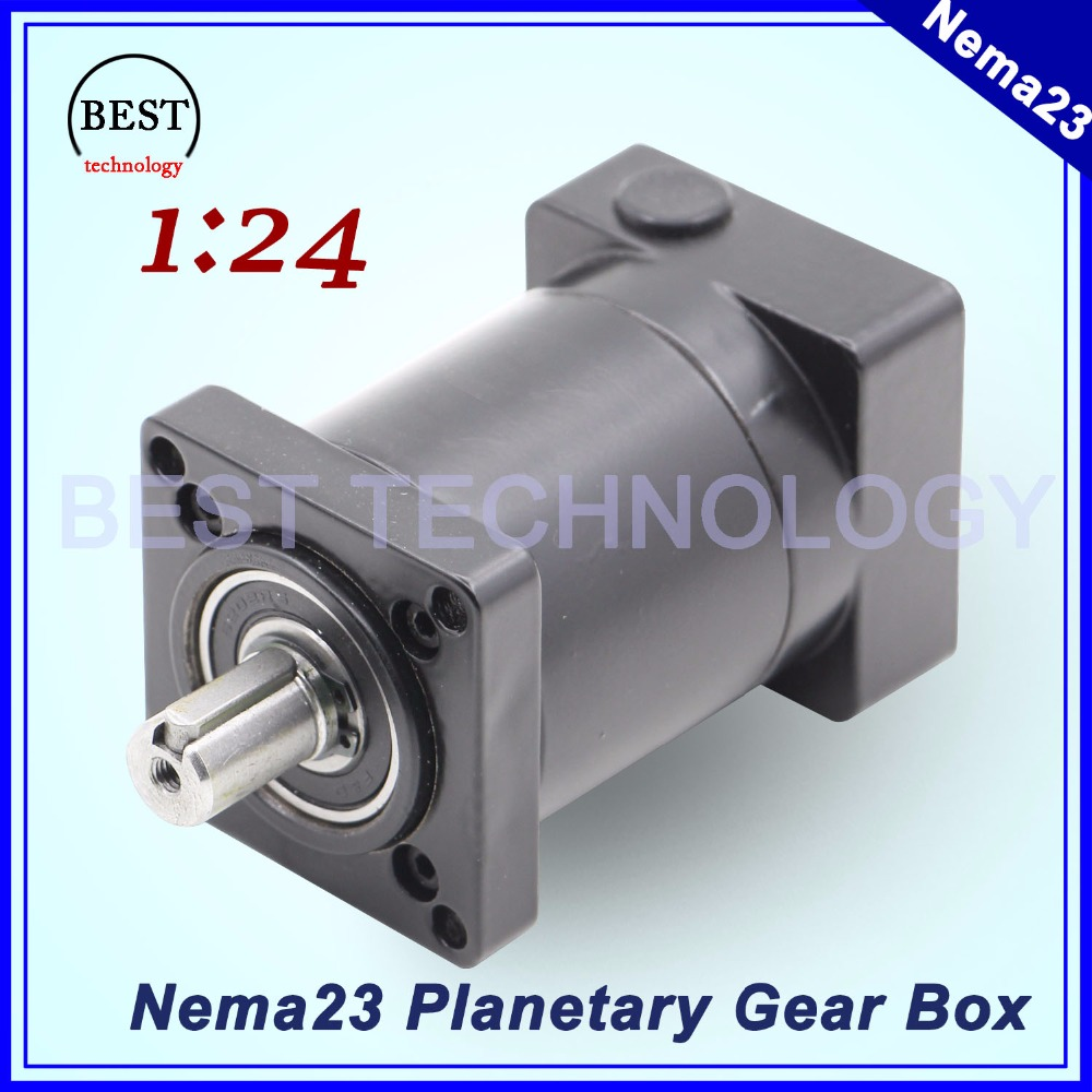 Nema23 Motor Planetary Reduction gearbox 57mm motor speed reducer ratio 1:24 Used for Nema 23 brushless motor Planetary Gearbox dental endodontic root canal endo motor wireless reciprocating 16 1 reduction