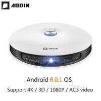 AODIN M18 мини светодиодный проектор с разрешением 4 K 3D DLP проектор, Карманный Android HDMI Вход 2G DDR3 Full HD 1080 P портативный проектор для домашнего кинот