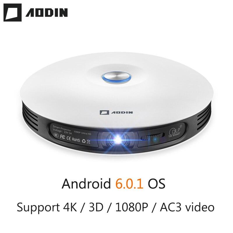 AODIN M18 mini LED DLP projetor de Bolso Projetor 4 K 3D 2G DDR3 Entrada HDMI Android Full HD 1080 P portátil projetor de home theater