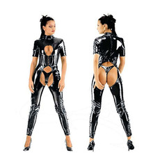 Kaguster Sexy cosplay open crotch stripper outfit sexy halloween devil Drag queen costumes cat woman costume role play