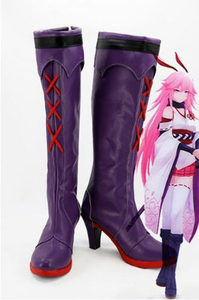 Image 1 - Honkai Impact 3 Yae Sakura Cosplay Boot Shoes Costume Accessories Halloween Party Boots for Adult Women High Heel Shoes