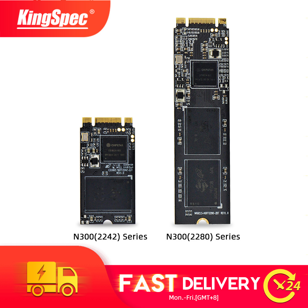 KingSpec <font><b>m2</b></font> <font><b>ssd</b></font> 64gb 128gb <font><b>m2</b></font> <font><b>2242</b></font> M.2 SATA ngff 256gb 512gb <font><b>SSD</b></font> 1TB internal disk 2tb 2280 N300 disco <font><b>ssd</b></font> for Laptop desktop PC image