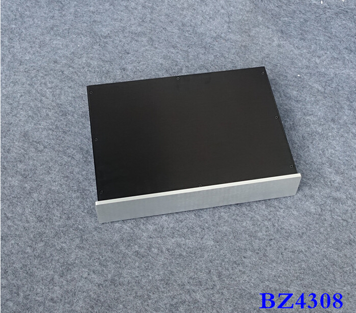 BZ4308 All aluminum amplifier chassis / DAC Case / Pre-amplifier chassis / AMP Enclosure / case / DIY box (430*82*308mm) gaowen g all aluminum enclosure preamplifier chassis diy pre amp case amplifier box 430mm 70mm 308mm
