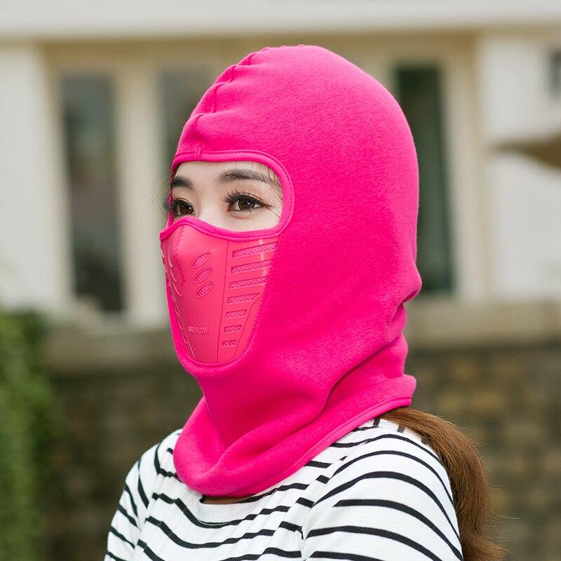 Cycling Bicycle Mask Winter Heat Fleece Hat Mountain Masks Breathe Freely Collar Scarf Riding Black Bone Balaclava Cap