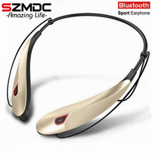 Wholesale SZMDC New Wireless Stereo Bluetooth Headset Music Headphone Sport Bluetooth Earphone Handsfree In Ear Earbuds MP3 Media Play