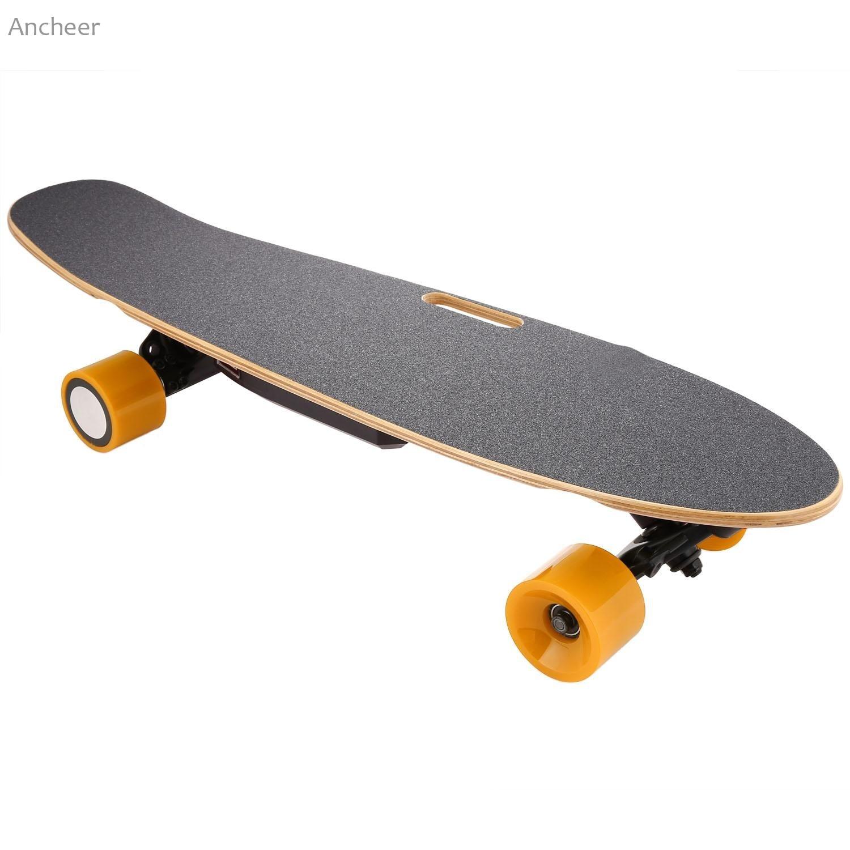 Electric Skateboard 7-Storey Maple 74cm Long Board with Remote Controller Skateboards For Children Range 10Km