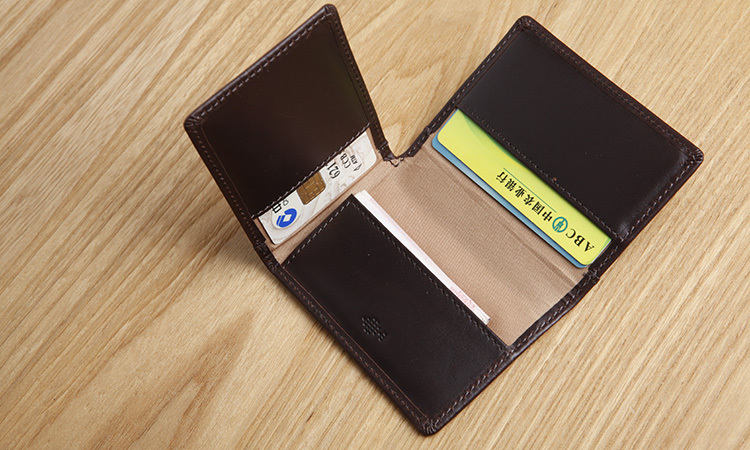 LAN mens leather credit card multi card holders samll bank card case traval card case