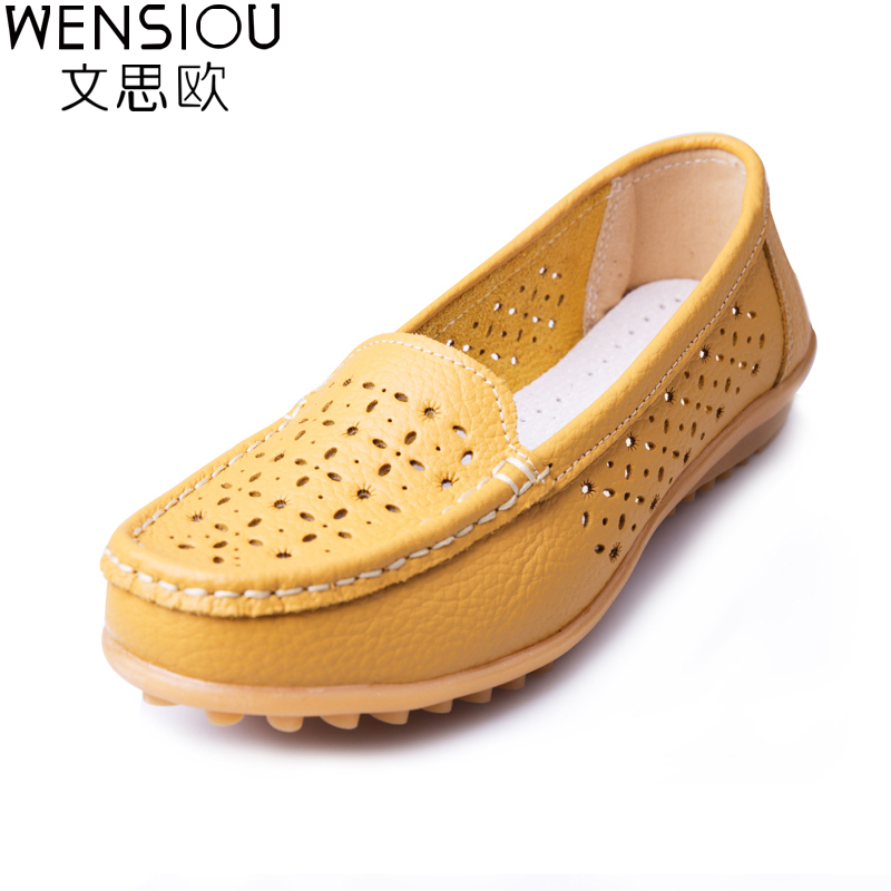 2018 Women Casual Shoes PU Leather Flats Buckle Loafers Casual Slip On Soft Women Shoes Cut-outs Moccasins Flat Shoes DT918 2017 autumn fashion real leather women flats moccasins comfortable summer ladies shoes cut outs loafers woman casual shoes st181