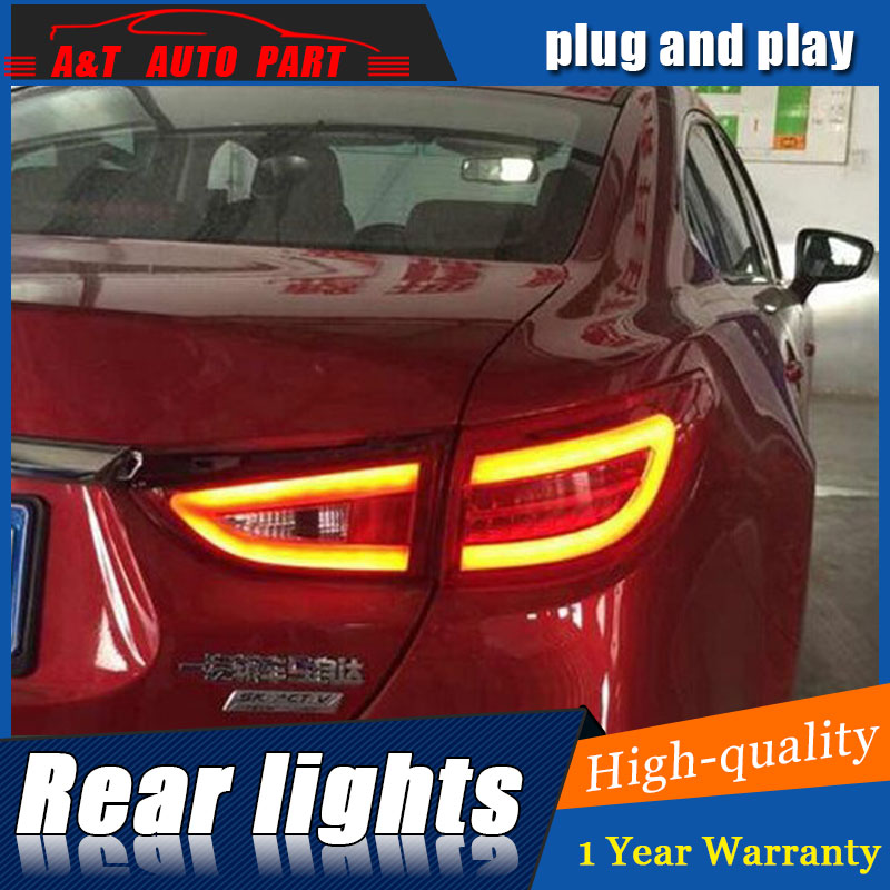 AUTO.PRO for Mazda 6 taillights Mazda 6 ATENZA rear lights 2014-2015 led rear trunk lamp cover+signal+brake+reverse car styling for mazda cx 5 cx5 2nd gen 2017 2018 interior custom car styling waterproof full set trunk cargo liner mats tray protector