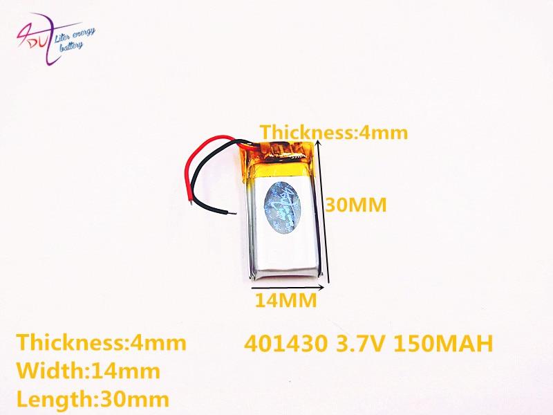 Digital Batterien Zielsetzung 10 Pcs 3,7 V Lithium-batterie 041430 401430 150 Mah Mp3 Mp4 Mp5 Kleine Spielzeug Bluetooth Batterie Farben Sind AuffäLlig