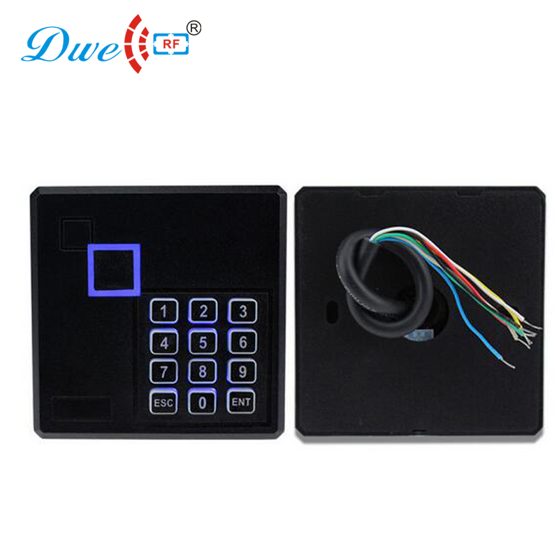 DWE CC rf access control card readers 13.56mhz 12V keyboard NFC proximity gate rfid reader dwe cc rf rfid gate reader 13 56mhz 12v black water proof access control card readers with wiegand 34