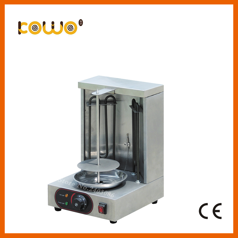 ce RoHS stainless steel mini electric doner kebab machine kebab grill 1 burner meat shawarma machine food processors