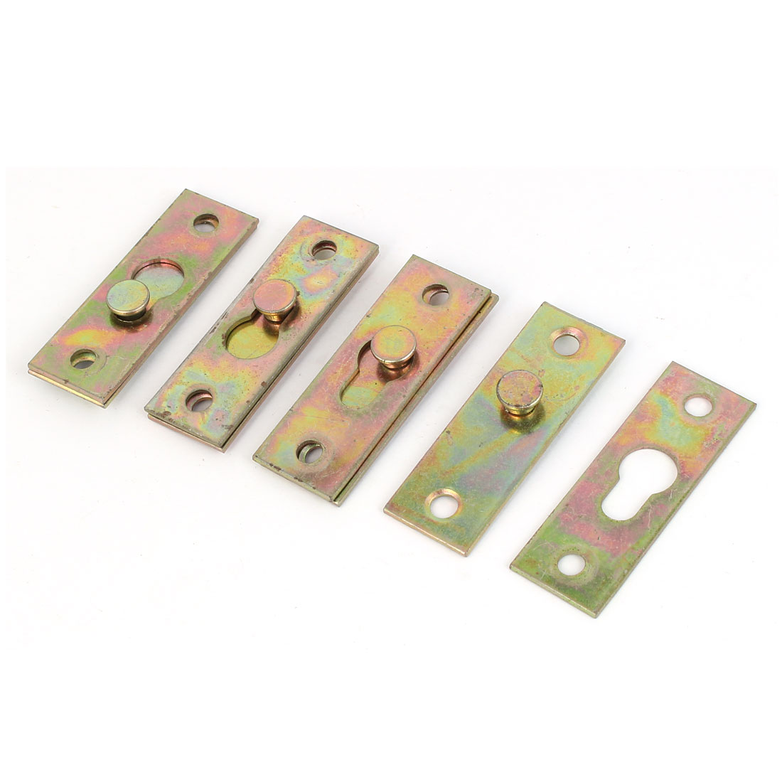 4Pcs Bed Rail Brackets Furniture Bed Rail Hook Plate Bracket Connector Brass Tone For Use Easy Installation All Kinds Home