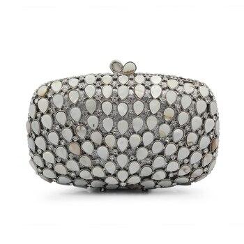 Box Clutches Women Day Clutch Luxury Crystal Bags Diamond Lady Evening Bag Small Wedding Purse(88222-SS) box clutch purse
