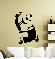 Minion Wall Sticker Cartoon Video Game Vinyl Decal Home Nursery Room Interior Decor Waterproof High Quality