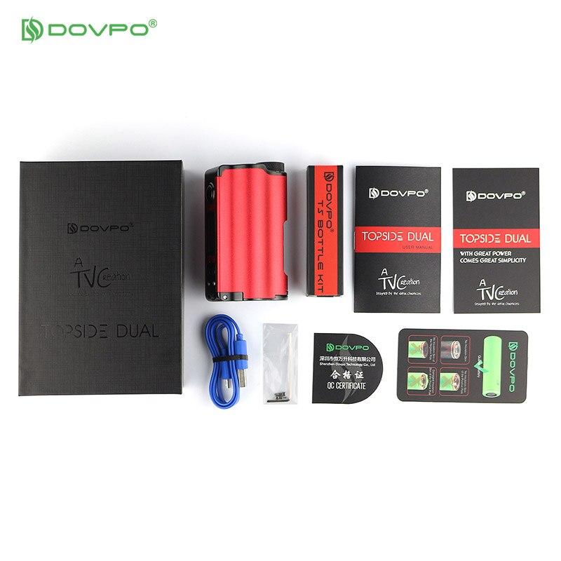 DOVPO Original double remplissage supérieur TC Squonk MOD avec 10 ml bouteille de Cigarettes électroniques Mods VS Voopoo glisser 2 Vape Mod - 6