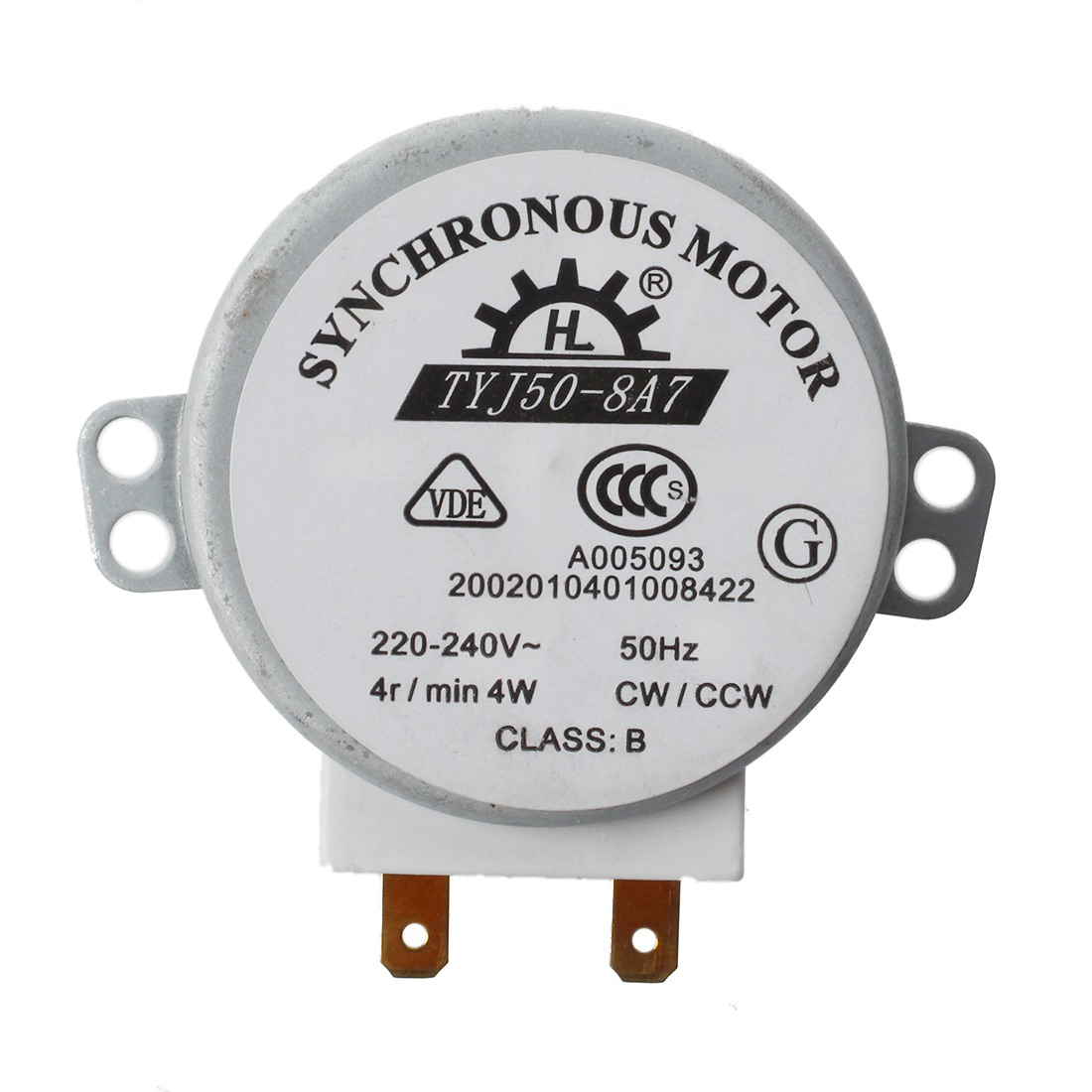 CW / CCW AC 220-240V 4W 4RPM mini synchronous motor for miniwave oven TYJ50-8A7 Microwave oven part стоимость