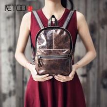 AETOO 2017 новый ретро натуральной кожи сумка мини сумка женщин кражи дизайн мини небольшой рюкзак 100% натуральная кожа рюкзак