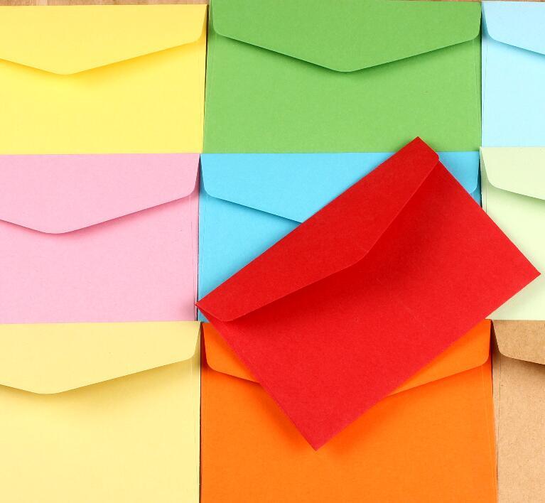 6.23 100 pcs Kraft Papier Enveloppe Carte Postale Invitation Lettre Papeterie Favor Papier Sac 11.8x8 cm dans Cadeau Sacs et Emballage Fournitures de Maison & Jardin