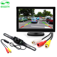 GreenYi 5 LCD TFT Color Car Parking Rear View Monitor IR High Definition Night Vision Car